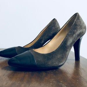 JOHN GREY Brown Suede Shoes With Heel